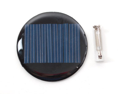 solar badge front